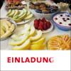 Blick auf vielerlei Früchte beim Frühstücksbuffet